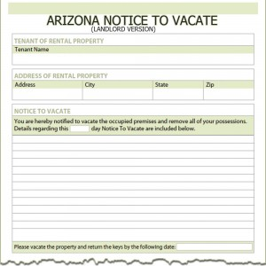 60 day notice to vacate