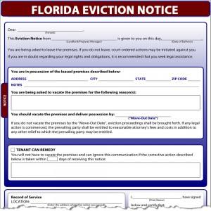 florida eviction notice template .