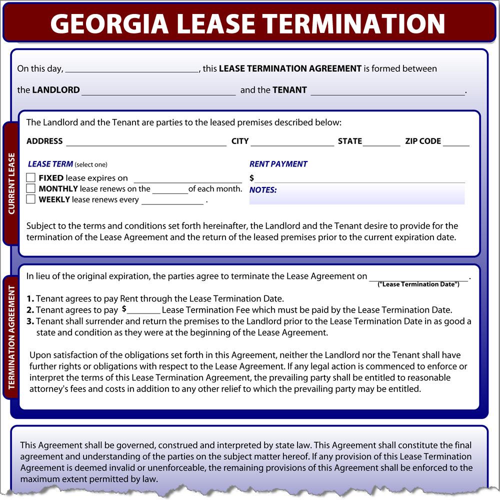 Georgia Lease Termination