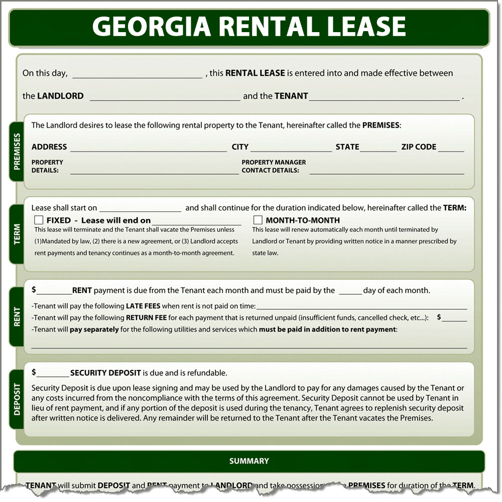 Georgia Rental Lease