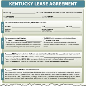 Kentucky Lease Agreement