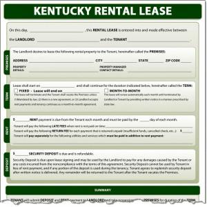 Kentucky Rental Lease