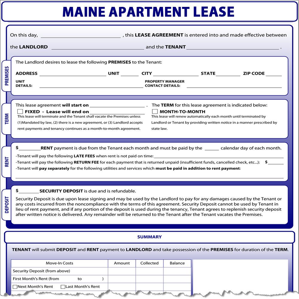 Maine Apartment Lease