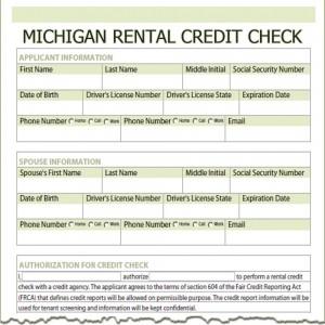 Michigan Rental Credit Check