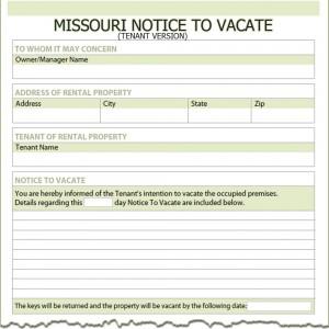 missouri tenant notice to vacate