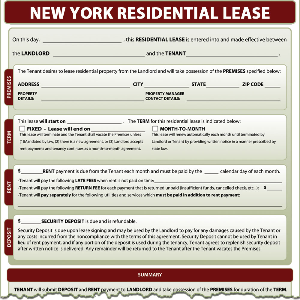 new york lease forms new york sublease agreement new york